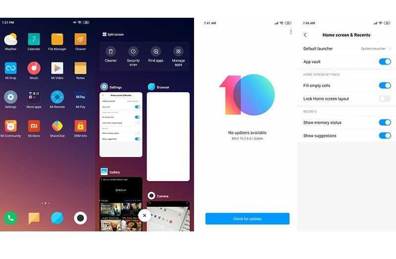 Xiaomi Redmi Note 7 Pro система и интерфейс