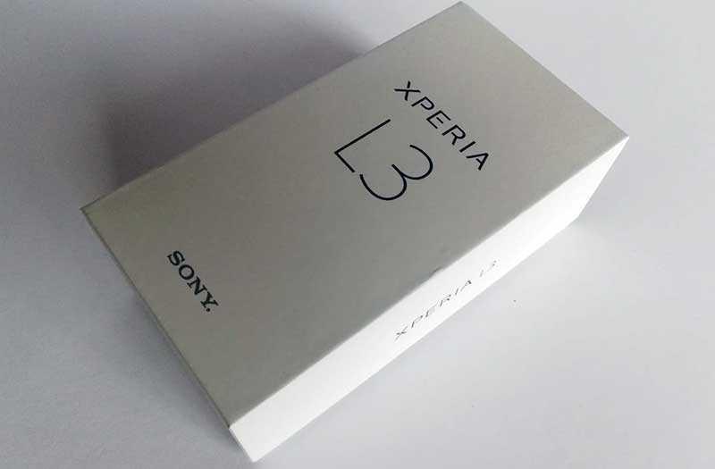 Sony Xperia L3 из коробки