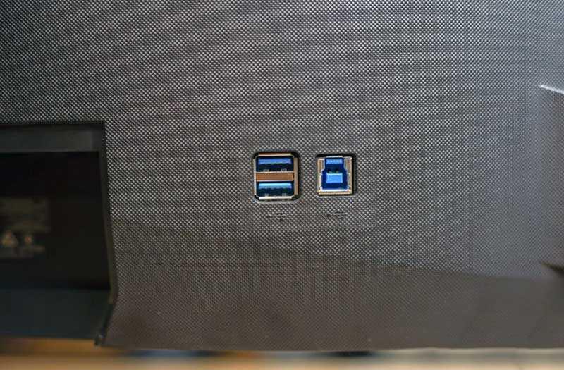 Acer Predator XB273K разъёмы
