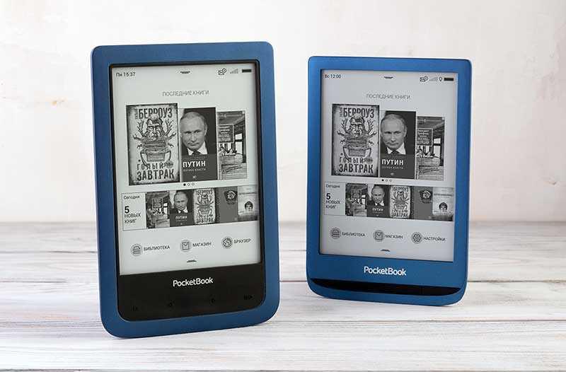 PocketBook 641 Aqua 2 (слева) и PocketBook 632 Aqua