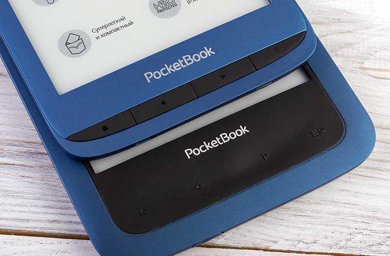 PocketBook 632 Aqua (сверху) и PocketBook 641 Aqua 2