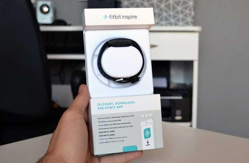 Fitbit Inspire HR из корбки