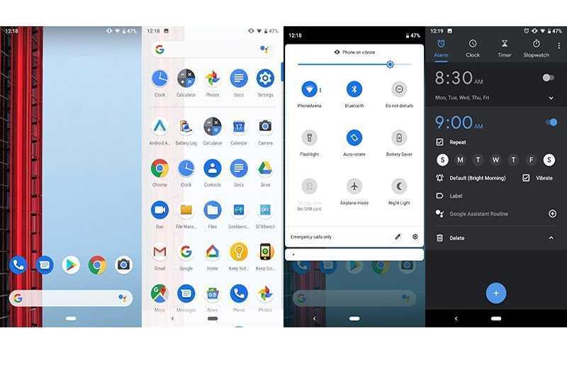 Google Pixel 3a и Pixel 3a XL система