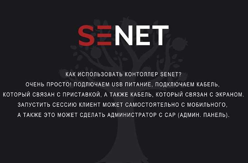 SENET controller подключение