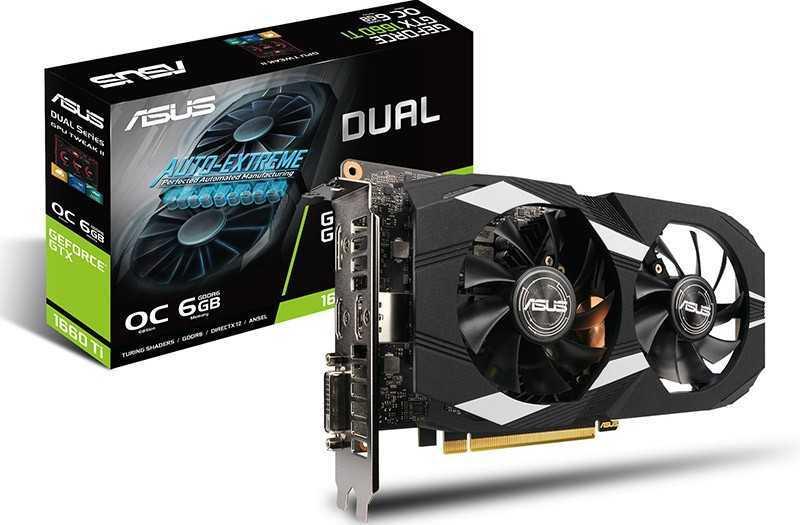 ASUS Dual GeForce GTX 1660 Ti OC 6 ГБ