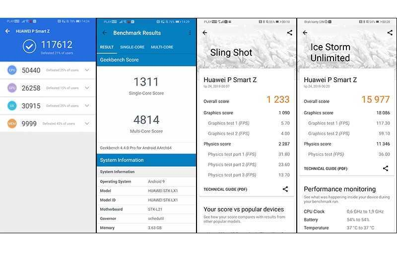 Huawei P Smart Z производительность