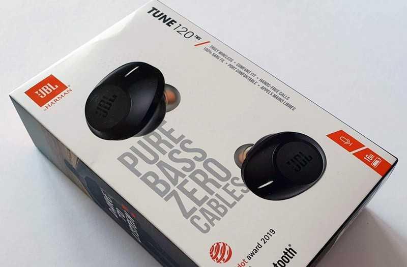 JBL Tune 120 TWS из коробки