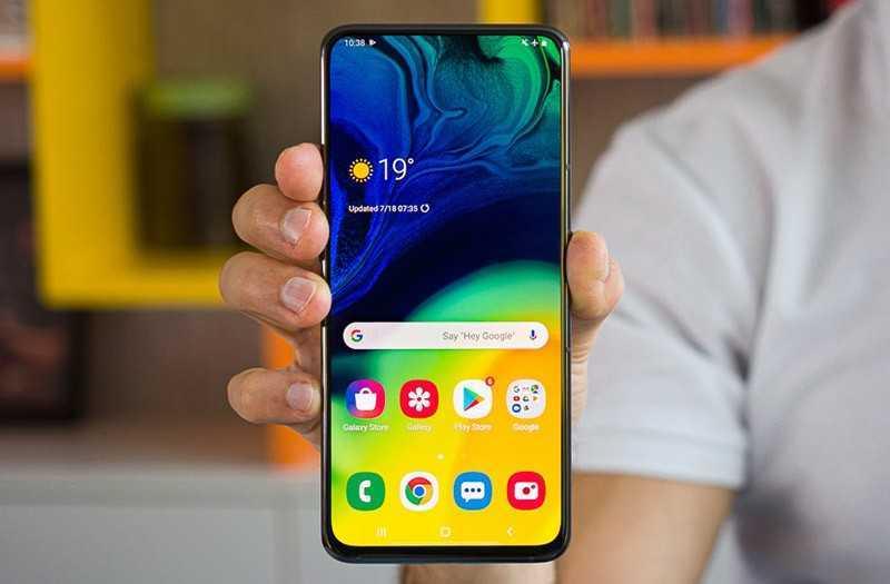 Samsung Galaxy A80 дизайн