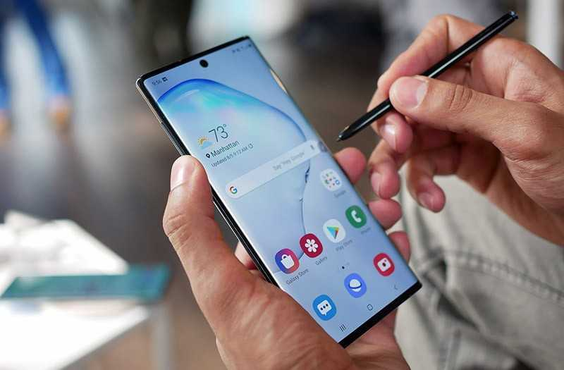Samsung Galaxy Note 10 перо