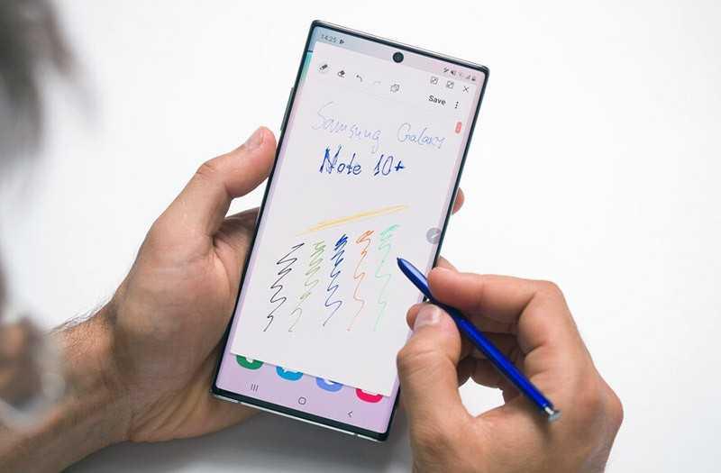 Samsung Galaxy Note 10 Plus стилус