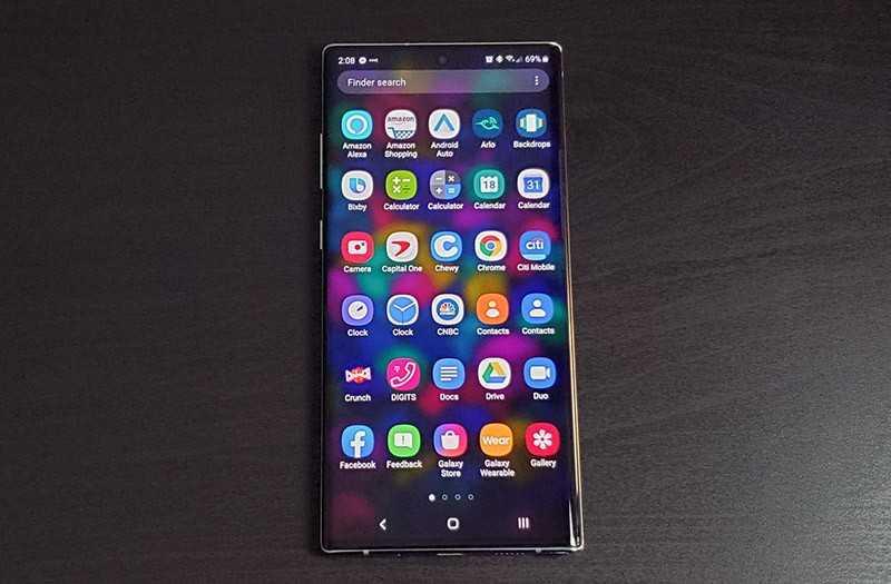 Samsung Galaxy Note 10 Plus интерфейс
