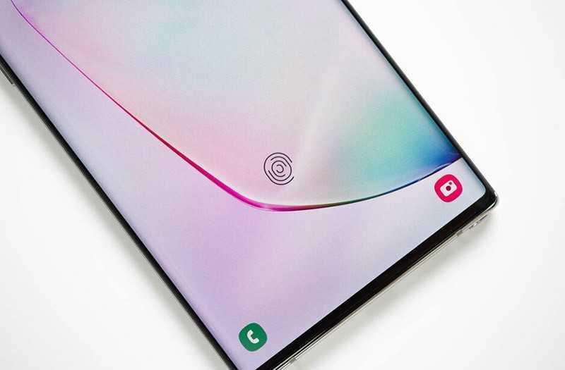 Samsung Galaxy Note 10 Plus сканер