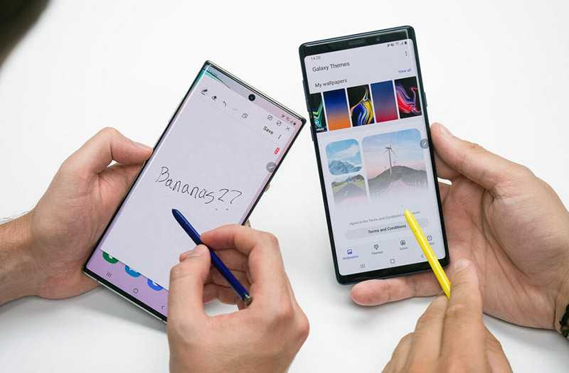Samsung Galaxy Note 10 Plus vs Samsung Galaxy Note 9 стилус