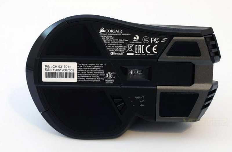 Corsair IronClaw RGB Wireless сенсор