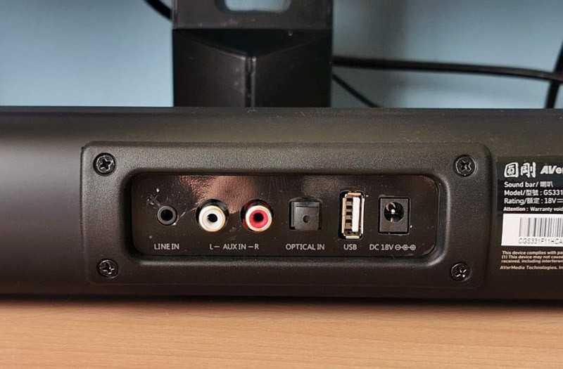 AVerMedia Sonicblast GS331 порты и разъёмы