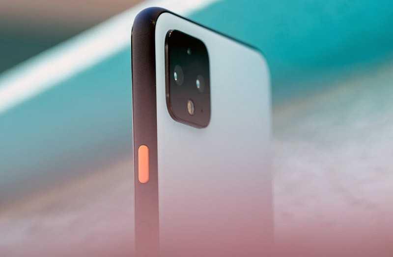 Google Pixel 4 сбоку