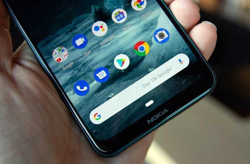 Nokia 7.2 панель снизу