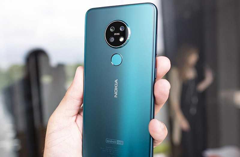 Nokia 7.2 сзади