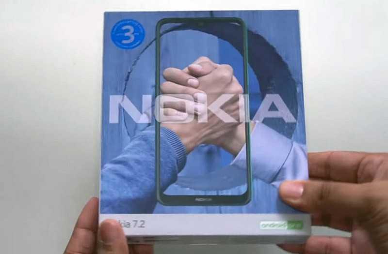 Nokia 7.2 из коробки