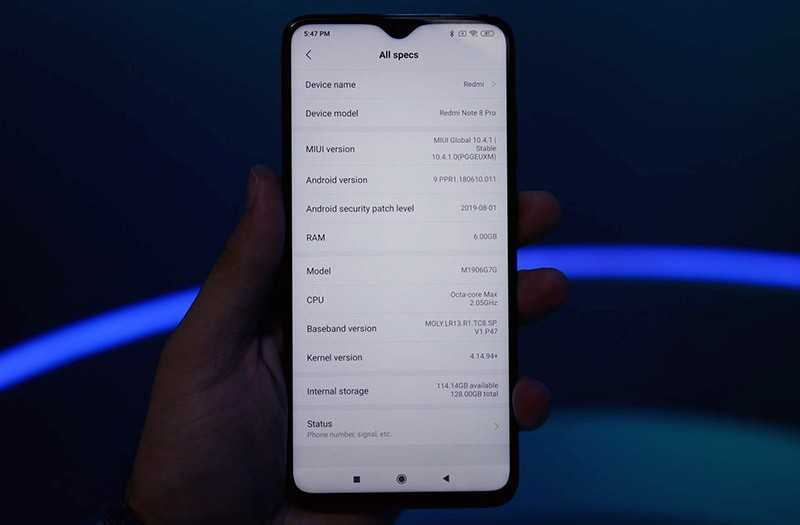 Redmi Note 8 Pro система и интерфейс