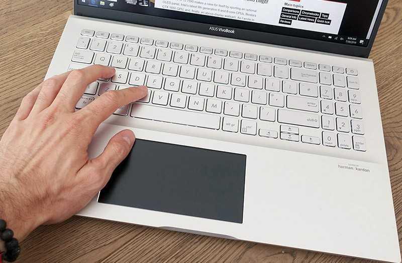 Asus VivoBook S15 клавиатура