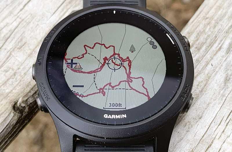 Garmin Forerunner 945 навигация
