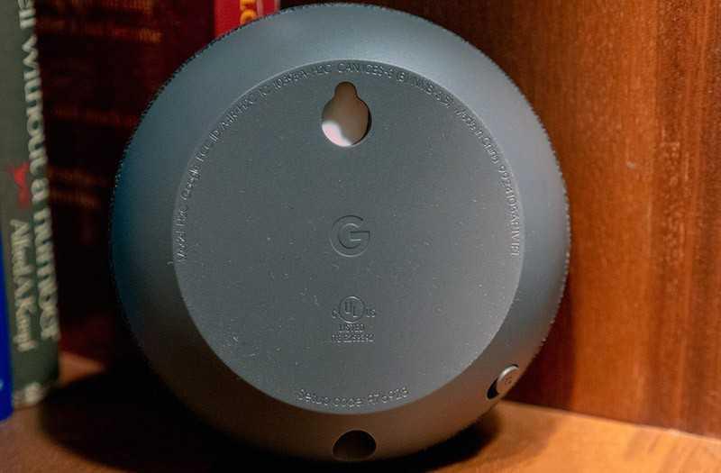 Google Nest Mini крепление