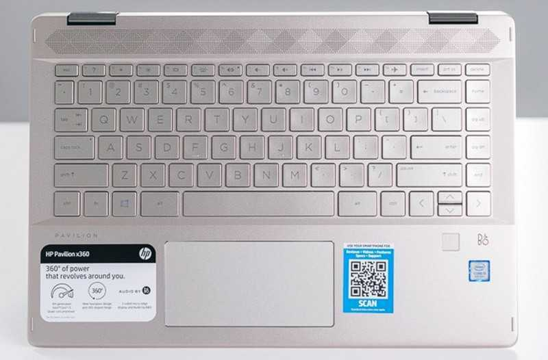 HP Pavilion x360 14 (2019) клавиатура