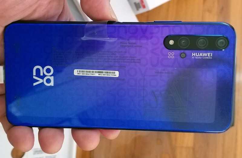 Huawei Nova 5t камеры