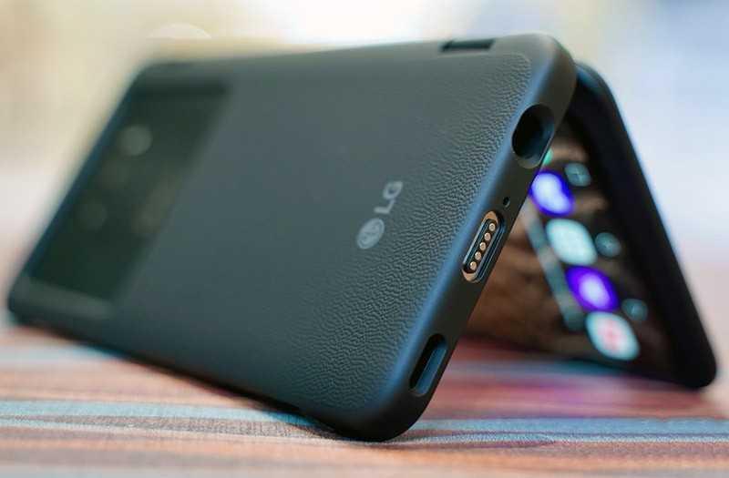 LG G8X ThinQ с чехлом экраном