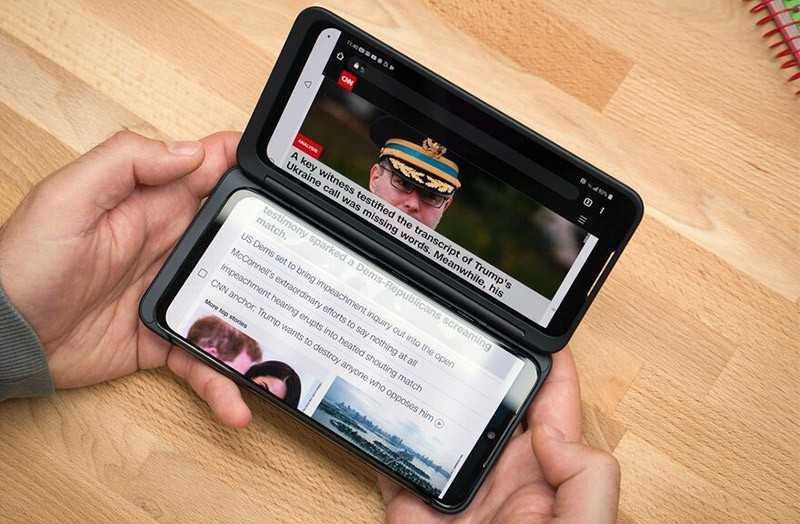 LG G8X ThinQ экраны
