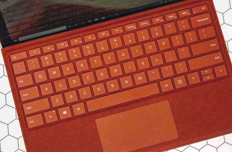 Microsoft Surface Pro 7 клавиатура и тачпад
