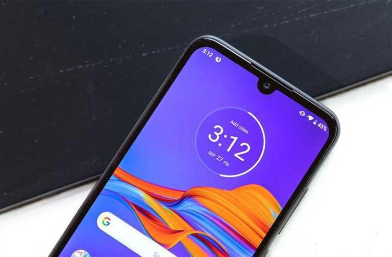 Motorola E6 Plus передняя камера