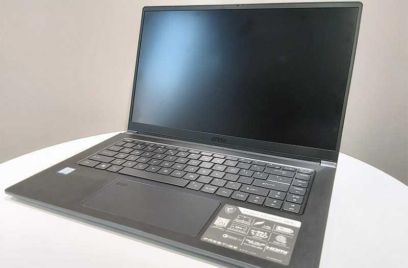 MSI PS63 Modern 8RC экран