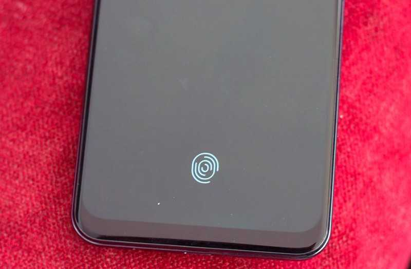 Samsung Galaxy A50s сканер в экране