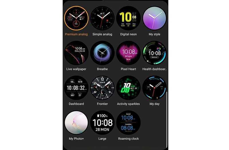Samsung Galaxy Watch Active 2 циферблаты