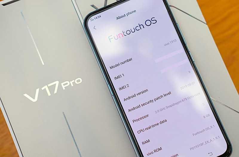 Vivo V17 Pro интерфейс