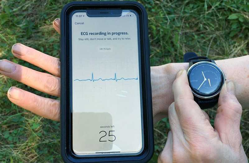 Withings Move ECG работа ЭКГ