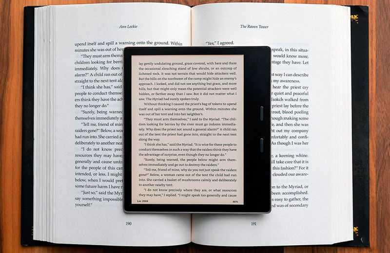 Amazon Kindle Oasis (2019) экран