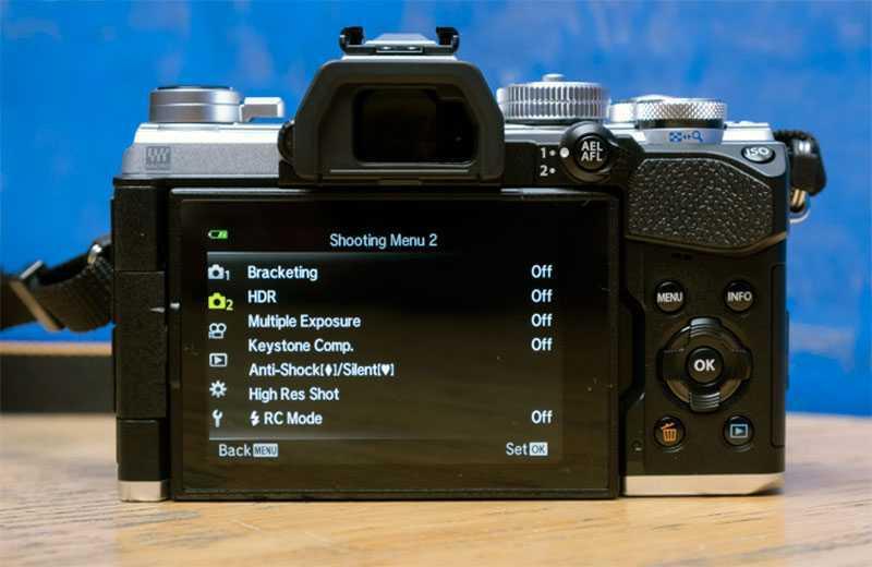 Olympus OM-D E-M5 Mark III настройки