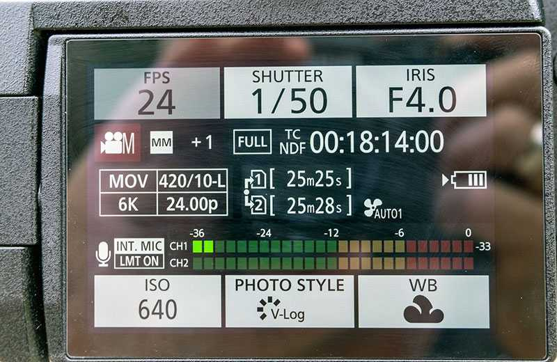 Panasonic S1H съёмка