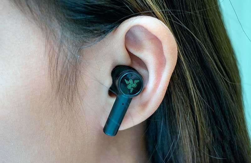 Razer Hammerhead True Wireless удобство