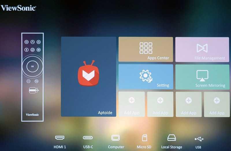ViewSonic X10-4K меню