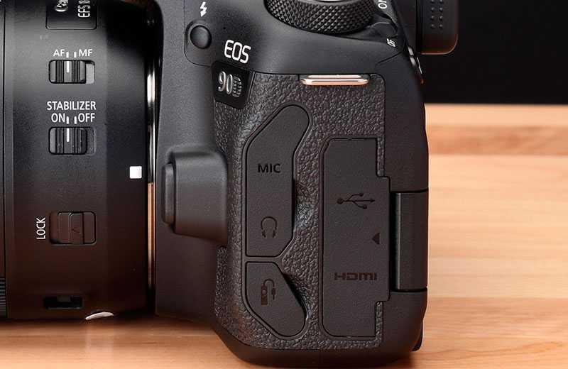 Canon EOS 90D разъёмы