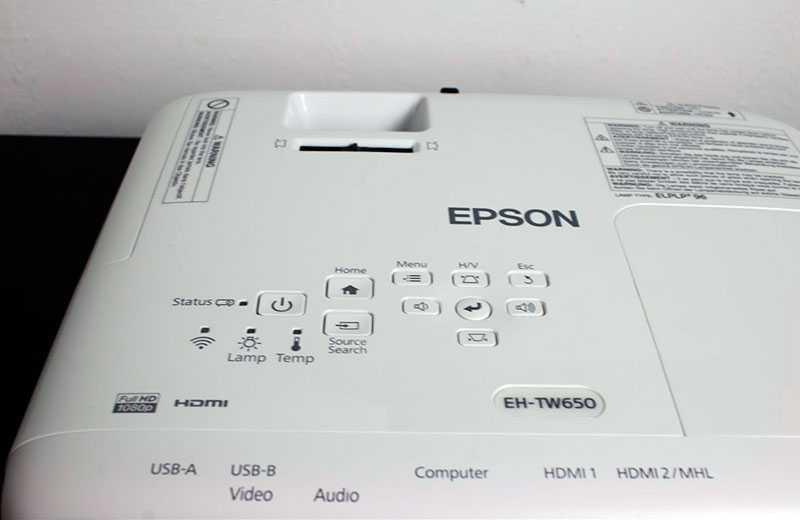 Epson EH-TW650 управление