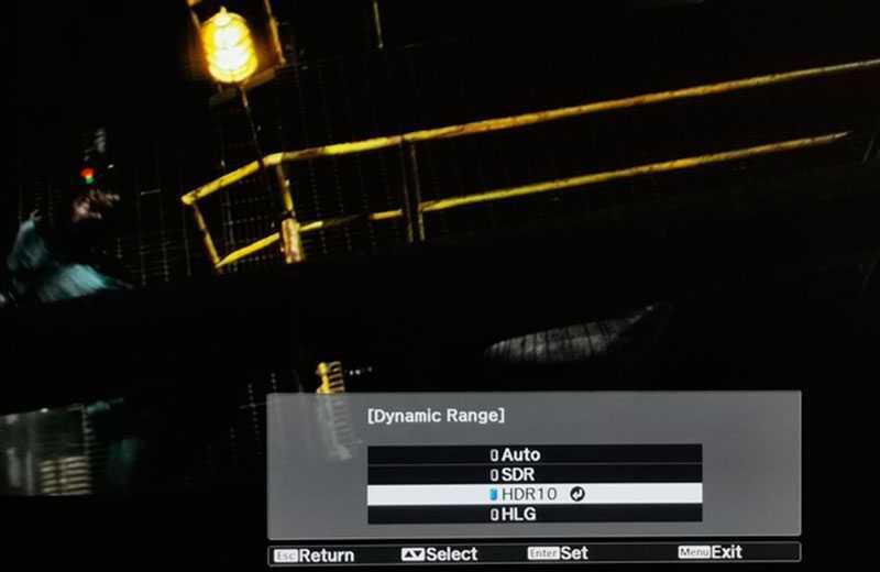 Epson EH-TW9400 картинка с HDR