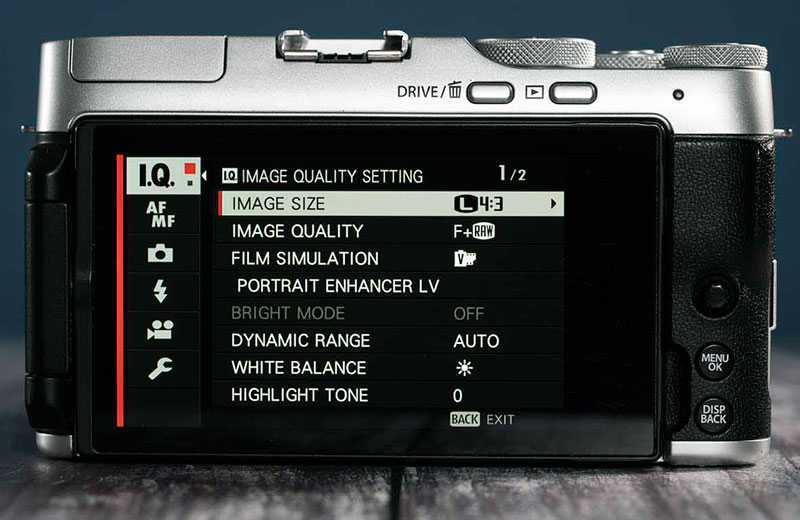 Fujifilm X-A7 управление