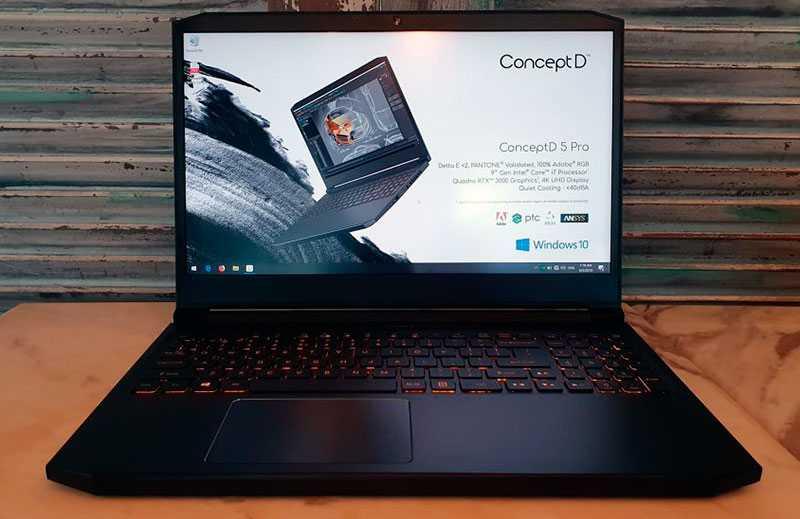 Обзор ноутбука Acer ConceptD 5 Pro