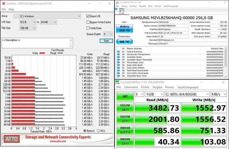 Тест накопителя Huawei Matebook D 15 (2020)