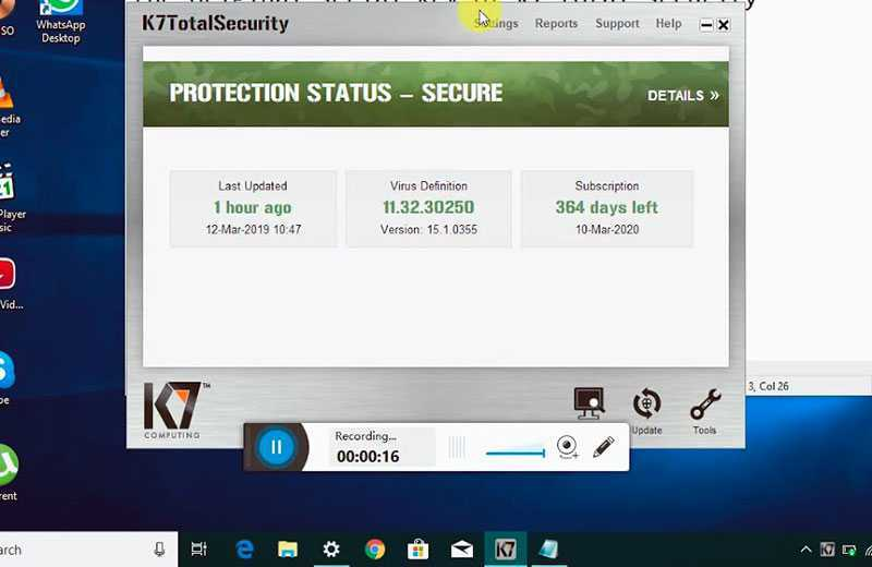 K7 Total Security 16.0